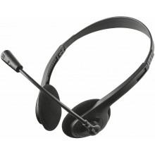 Auriculares con Micrófono Trust Ziva Chat negro 21517