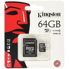 Tarjeta KINGSTON MICRO SD 64GB CL10