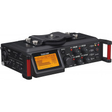 Tascam DR-70D Grabadora de audio de 4 canales para cámaras DSLR