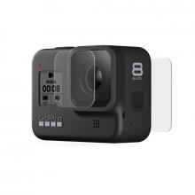 GoPro Protectores de Lente y pantalla de vidrio templado ( Hero8Black Max)